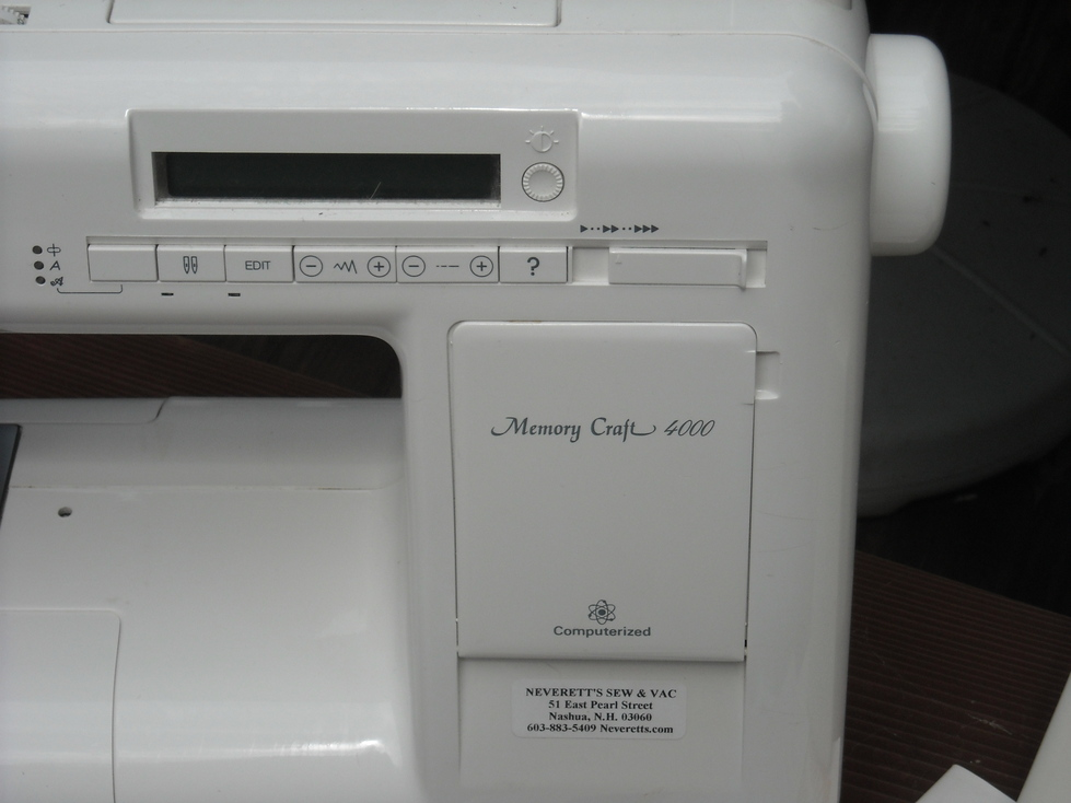 memory craft 4000 sewing machine manual